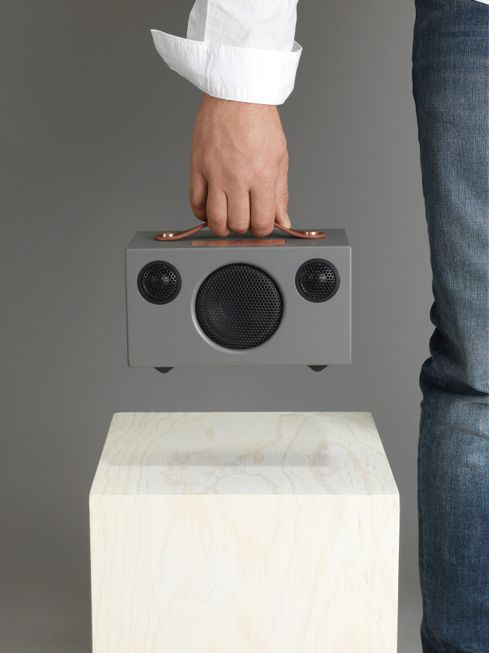 audiopro t3 holding hand