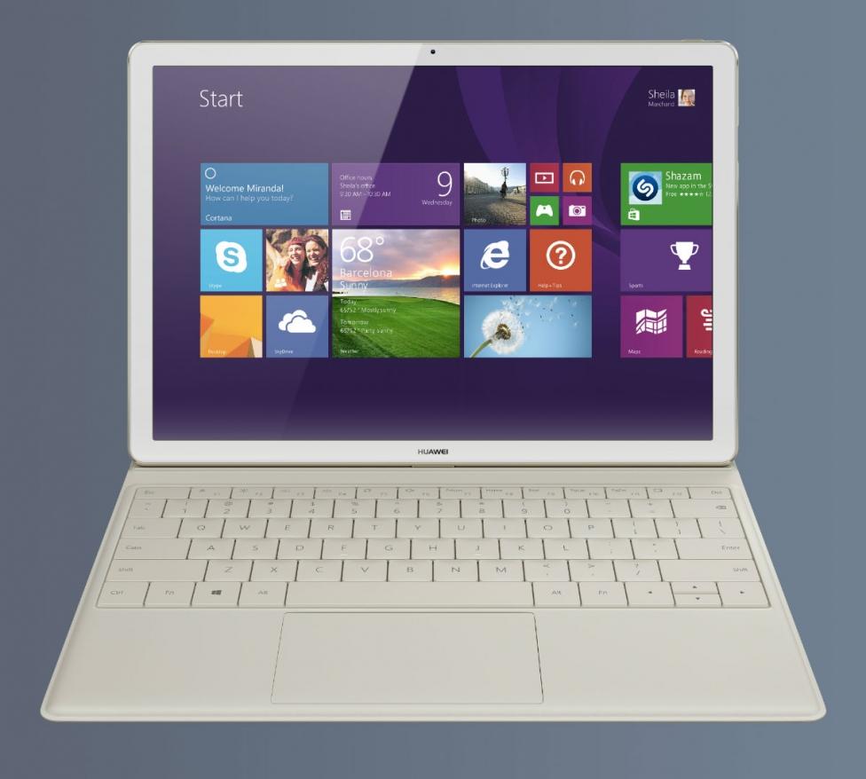 Huawei MateBook with keyboard