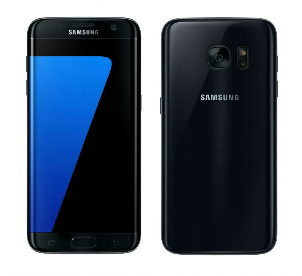 Galaxy S7 edge Black Onyx Front and Back standard